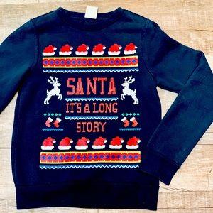 Abercrombie Kids Christmas Sweater size Small EUC